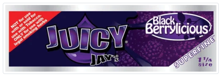 Juicy Jay, Black Berrylicious Flavored Papers