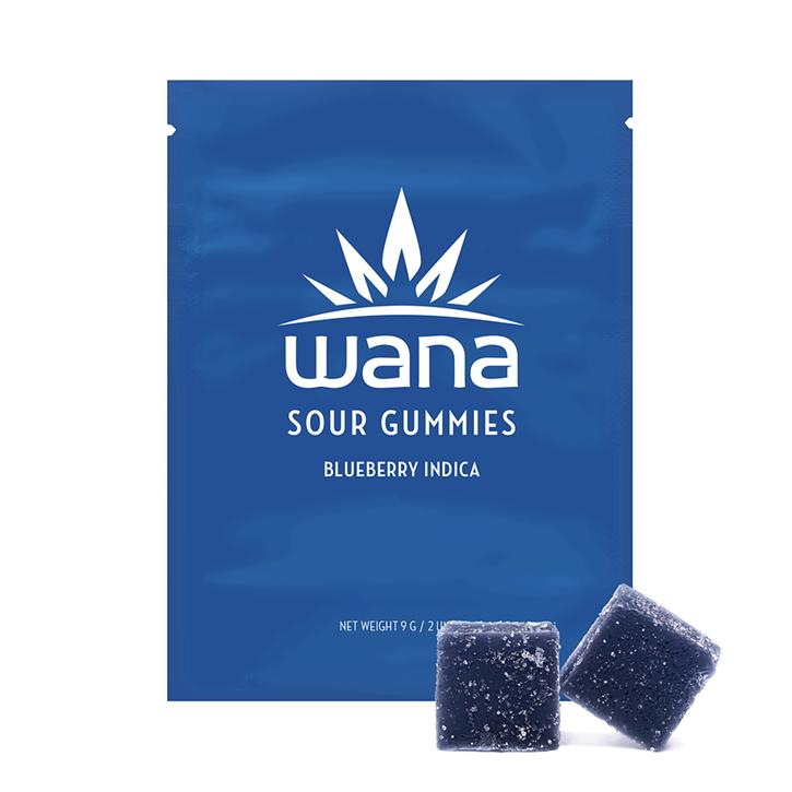 Blueberry Sour Soft Chews - Wana - Gummies