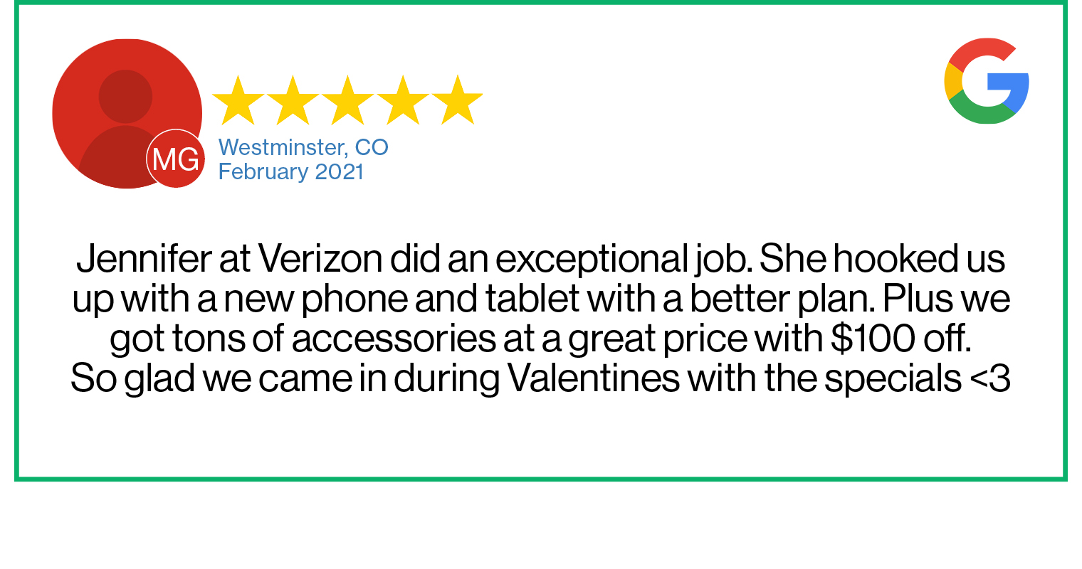 Check out this recent customer review about the Verizon Cellular Plus store in Westminster, Colorado