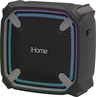 iHome Weather Tough Portable Bluetooth Speaker with LED