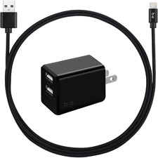 Blu Element Dual USB 3.4A Wall Charger w/ Lightning Cable