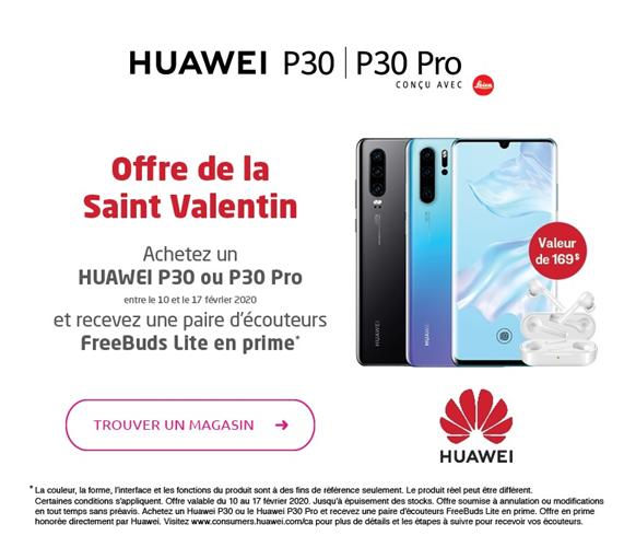 Trouver un magasin - Recevez une paire d'écouteurs Huawei Freebuds Lite en prime