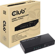 Club3D -  HDMI 4K60HZ 2.0 UHD Splitter 4 Ports Black