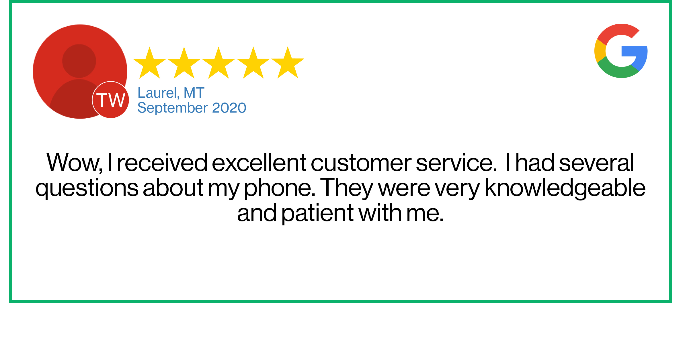 Check out this recent customer review about the Verizon Cellular Plus store in Laurel, Montana.
