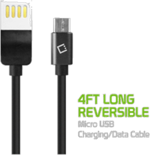 Cellet microUSB Cable with Reversible Male USB 2.0