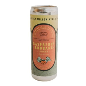 1C Wolf Willow Winery Raspberry Rhubarb Press 350ml