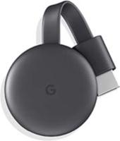 Google Chromecast (Charcoal) grey streaming device