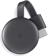 Google Chromecast (Charcoal) grey streaming device