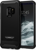 Spigen Galaxy S9 Reventon Case with Tempered Glass Screen Protector