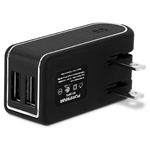 PureGear 4.8A Dual USB Travel Charger