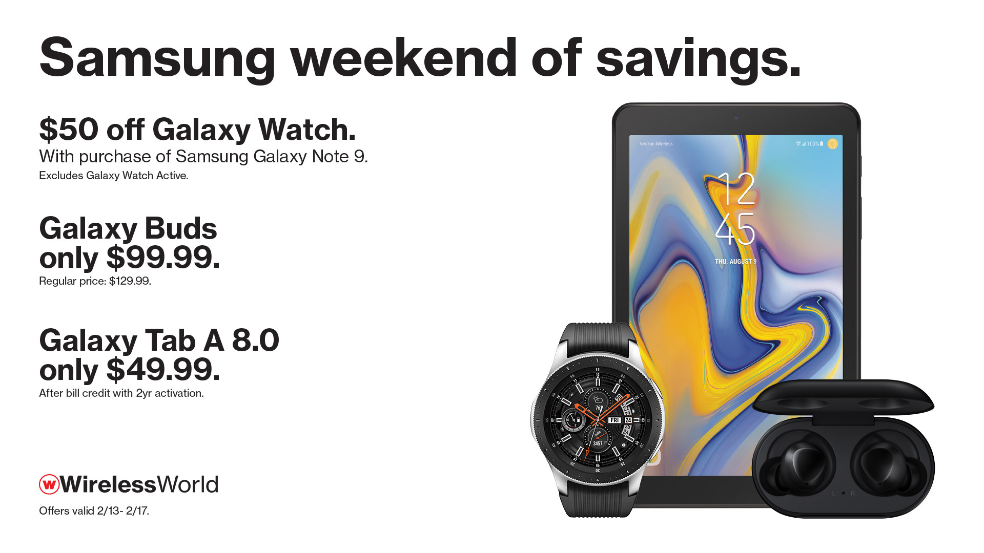 Save on several Samsung devices this weekend