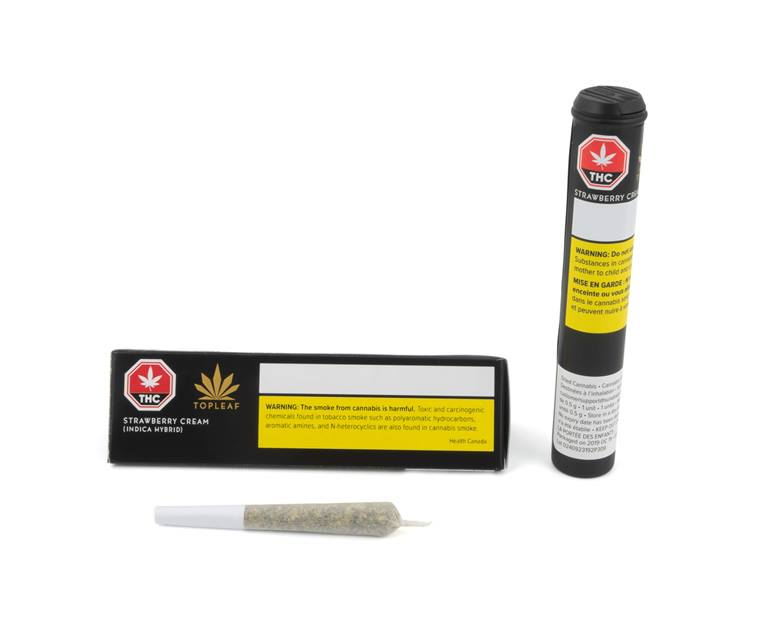 Top Leaf - Strawberry Cream 1x0.5g Pre-Roll Image