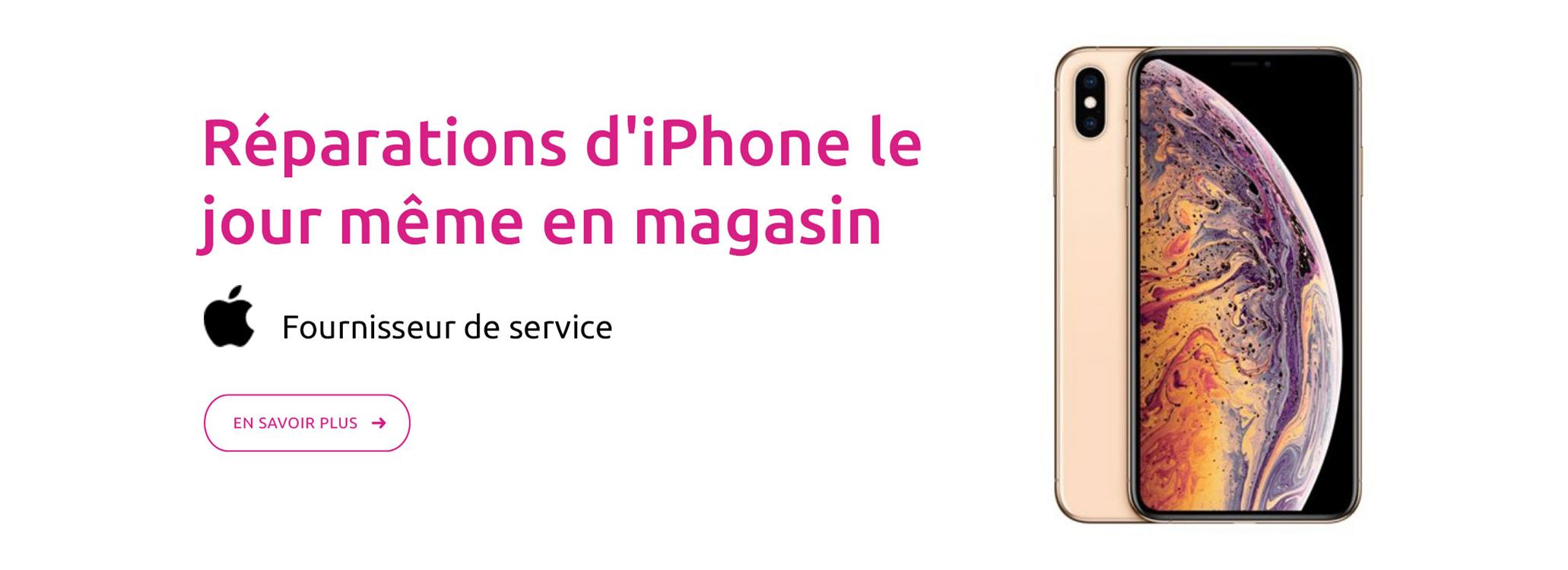 Réparations d'iPhone le jour même en magasin