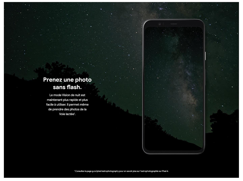 Le mode Vision de nuit – Prenez une photo sans flash