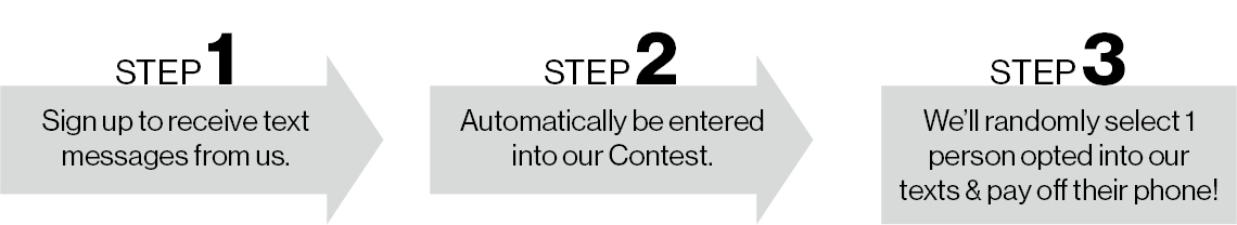 Sign up for texts to enter our contest
