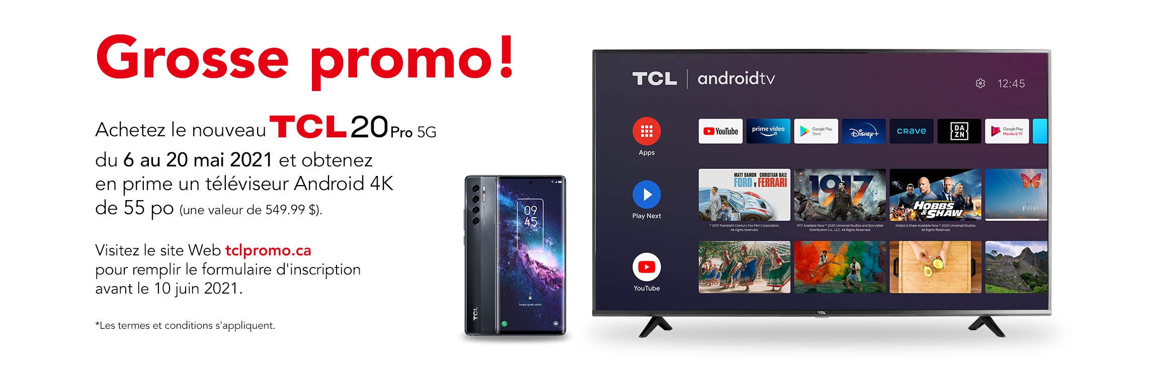 """TCL 55"""" TV GWP"""