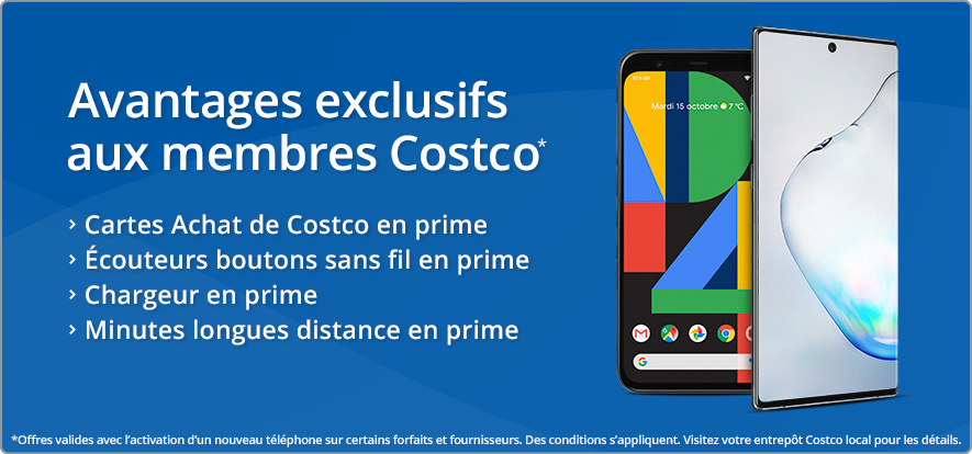 Avantages pour les membres Costco