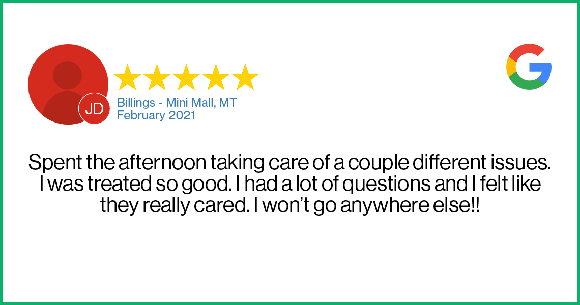 Check out this recent customer review about the Verizon Cellular Plus store in Billings, MT.