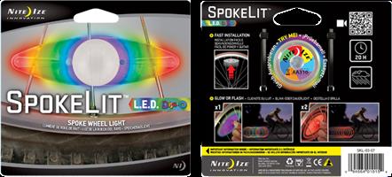 Nite Ize SpokeLit LED Spoke Light 2 Pack