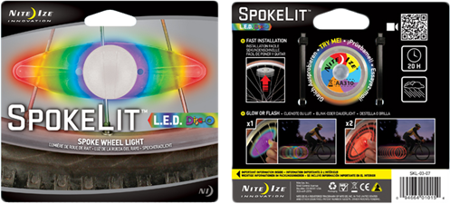 Nite Ize SpokeLit LED Spoke Light 2 Pack
