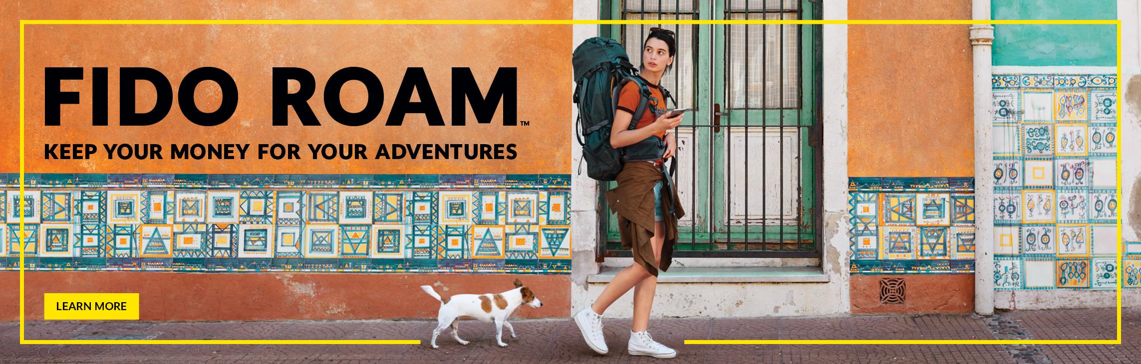 Fido Roam - Keep your money for your adventures