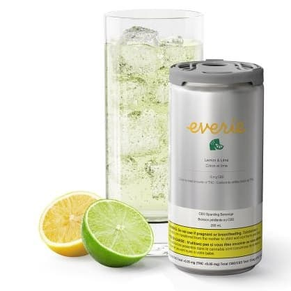 Lemon and Lime CBD - Everie - Sparkling Water