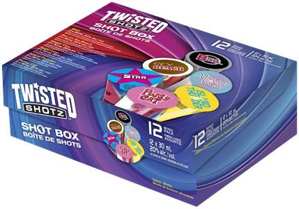 Independent Distillers Canada Twisted Shotz Shot Box 12 x 30ml