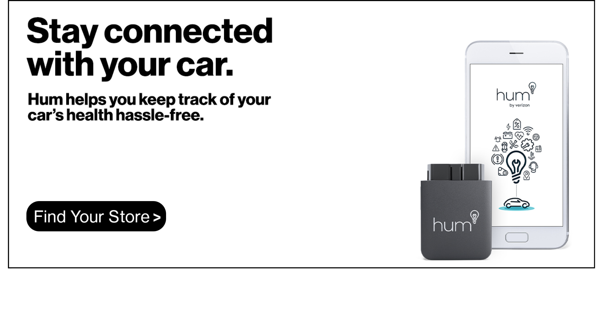 Stay connected with your car with Hum from Verizon.