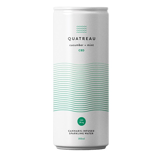 Cucumber and Mint - Quatreau - Sparkling Water