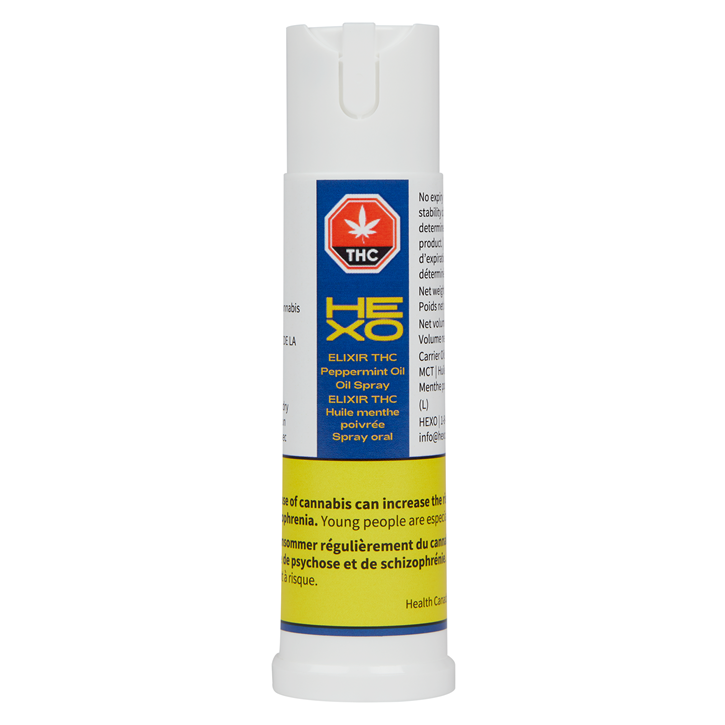 Elixir THC Peppermint Oil - HEXO - Spray - 15ml