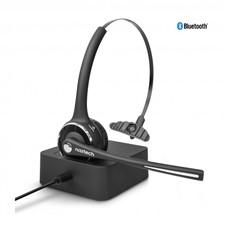 Naztech - N980 BT Bluetooth Over-the-Head Boom Headset w/Base