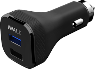 iWalk Qualcomm 3.0 Dual-USB Car Charger