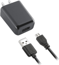 KEY 2.4A Single-USB Wall Charger with microUSB Cable