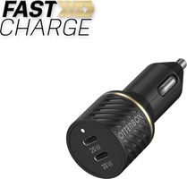OtterBox - Dual USB Premium Fast Charge Car Charger PD 30W + PD 20W