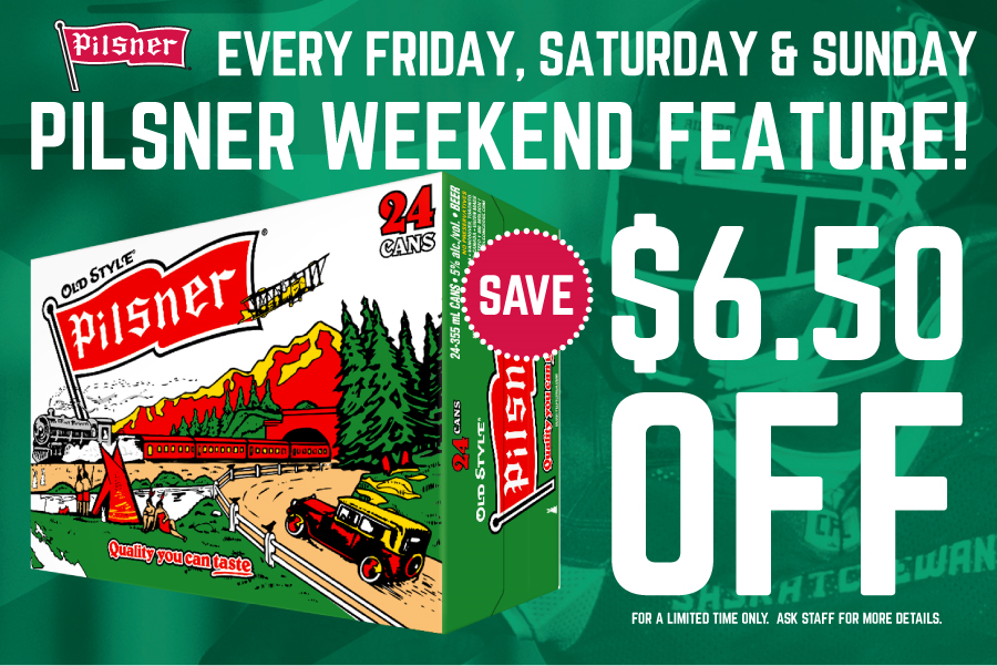 Pilsner Weekend Sale