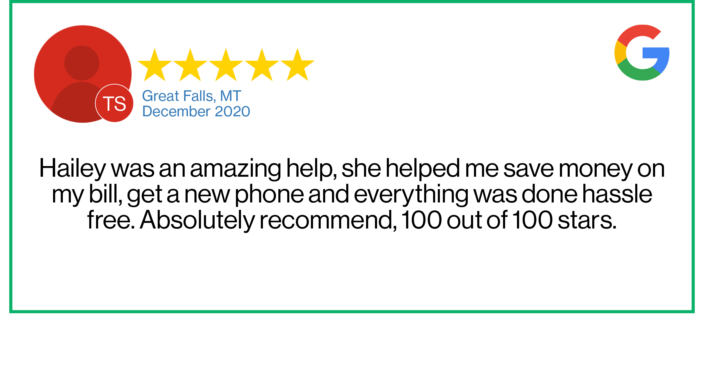 Check out this recent customer review about the Verizon Cellular Plus store in Great Falls, MT