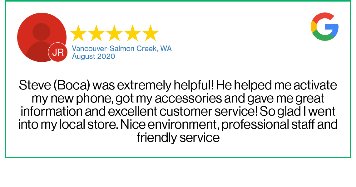 Check out this recent customer review about the Verizon Cellular Plus store in Vancouver, Washington