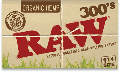 RAW, Organic Creaseless 1.25 Rolling Papers