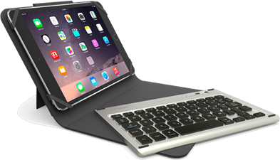 "PureGear Universal 8"" Folio with Removable Bluetooth Keyboard + Backlight"