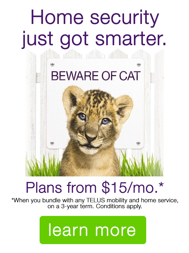 Get TELUS Home Security now!
