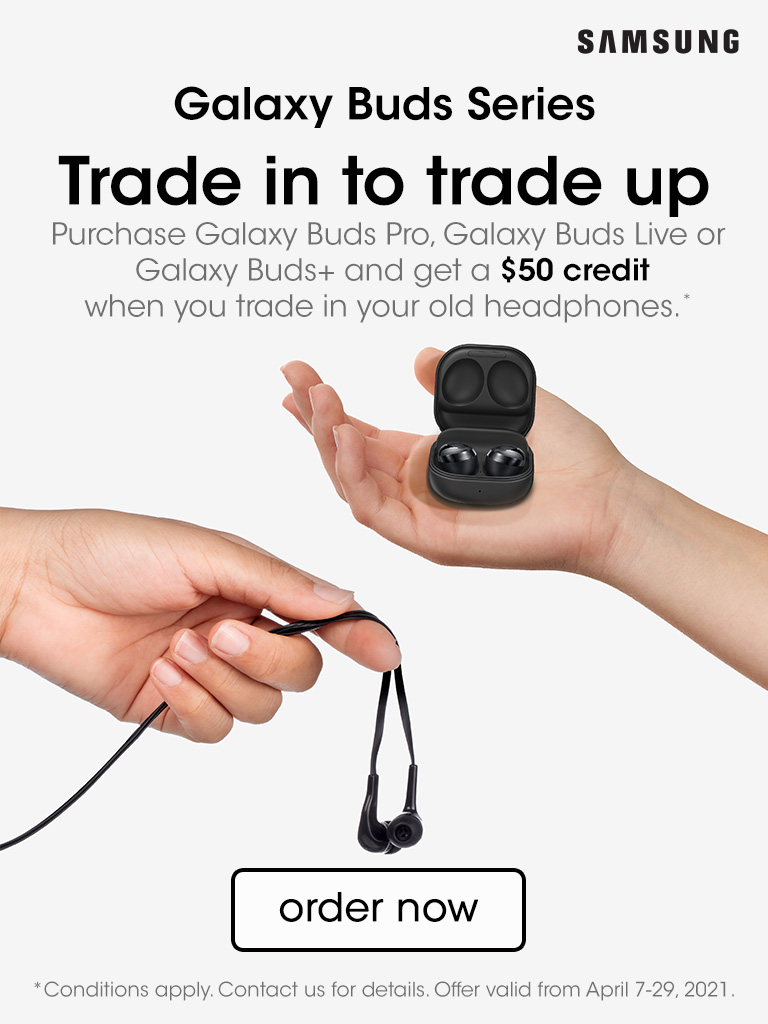 Trade in to trade up! Get a $50 credit when you trade in your old headphones!