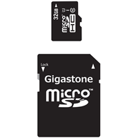 Gigastone Class 10 Prime Series Microsdhc 2-in-1 Memory Card And SD Adapter