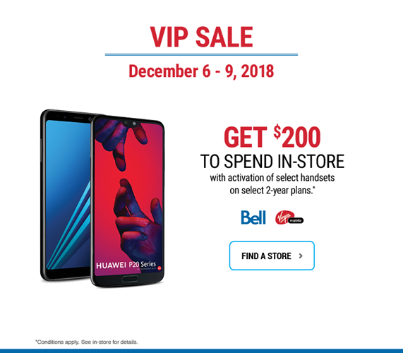 Get $200 to spend in-store with activation of select handsets