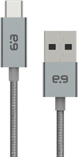 PureGear - 10ft Braided USBA to USBC Cable - Space Gray