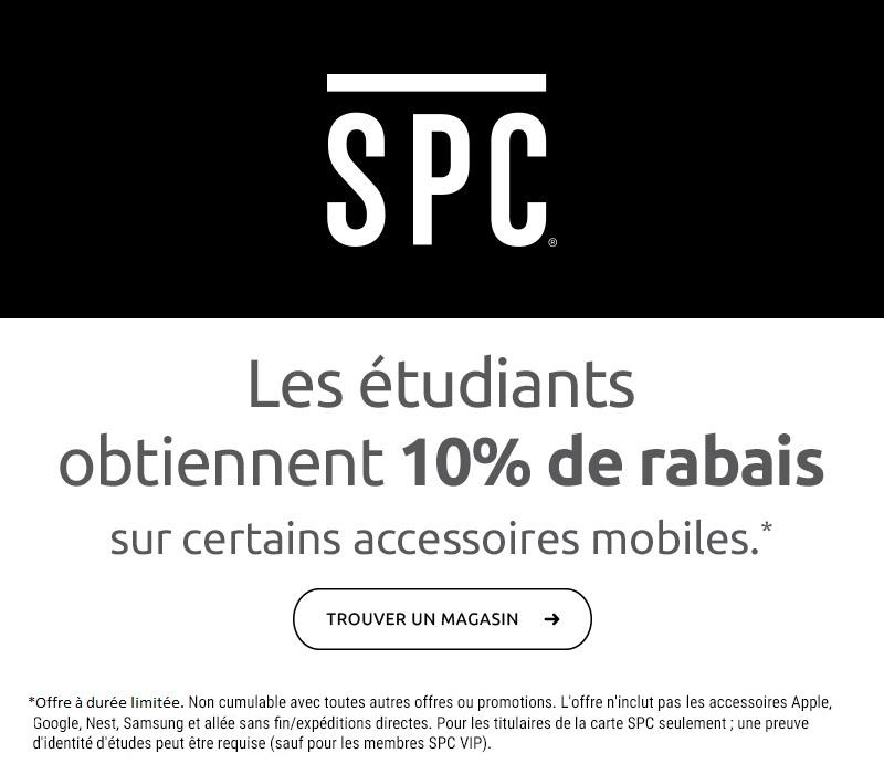 Les étudiants obtiennent 10% de rabais sur certains accessoires mobiles