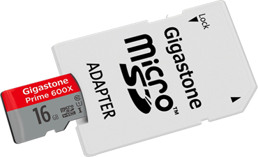 Gigastone MicroSDHC Class 10 2-in-1 Memory Card and SD Adapter