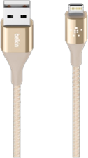 Belkin Mixit Duratek 4ft Metallic Lightning to USB Cable