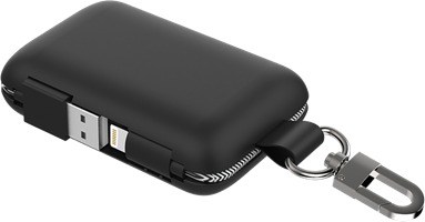 Qmadix - Power Bank 5000 Mah For Apple Lightning Devices - Black