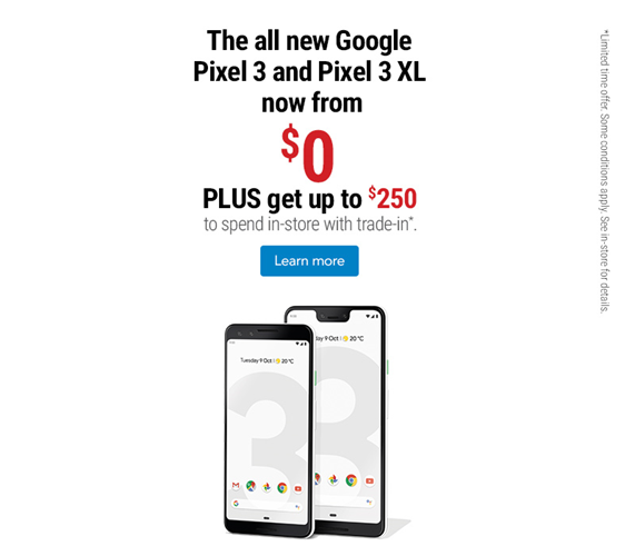 From $0 PLUS get up to $250 to spend in-store with trade-in