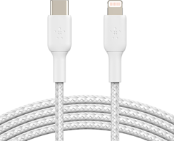 Belkin Braided USB C to Lightning Cable 4ft